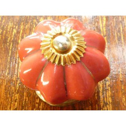 Red Button porcelain golden thread
