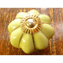 China buttons canary yellow gold band