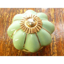 China buttons light green golden thread