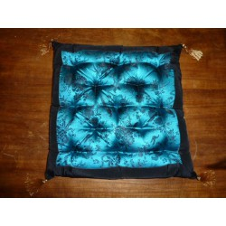 Galette black birds turquoise chair