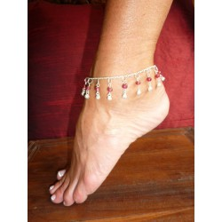 Anklets red beads