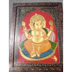 53x69 cm Ganesh and red rat