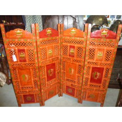 Screen headboard signs buddhist orange / rg