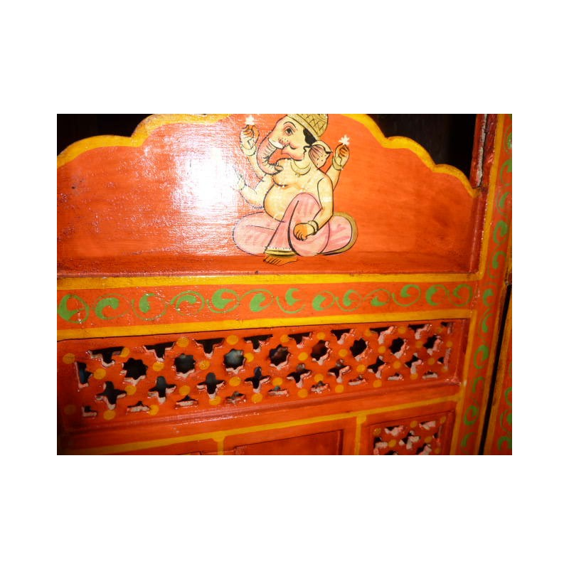 paravent t te de lit lord ganesha orange importateur direct. Black Bedroom Furniture Sets. Home Design Ideas