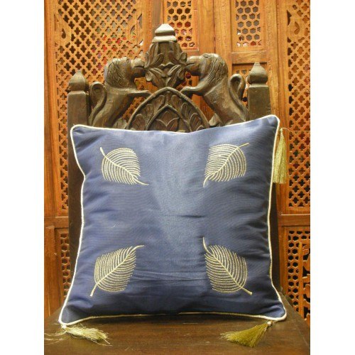 cushion cover 40x40 golden leaves