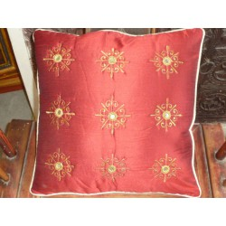 Cushion cover 40X40 arabesques miroirs red