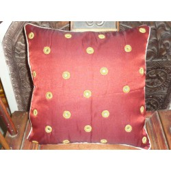 Cushion cover 40X40 Rond miroirs bordeaux
