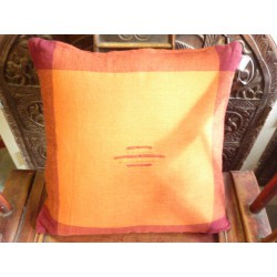 Cushion cover 40x40 cm orange/bordeaux couture