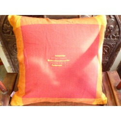 Cushion cover 40x40 cm bordeaux/orange couture