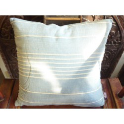 Cushion cover 40x40 cm blue sky cordelette white