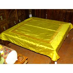 Paravent peint en relief (orange&bleu)
