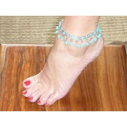 Anklets  beads multicolors