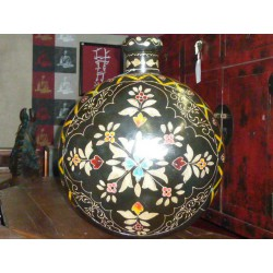 water jar hand painting Black XL