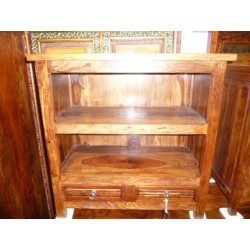 tv stand rosewood 2 drawers.