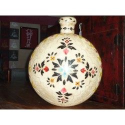water jar hand painting white XL