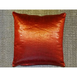 Cushion cover metallic 40x40 cm orange