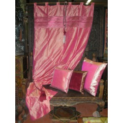 Taffeta brocade curtains edges