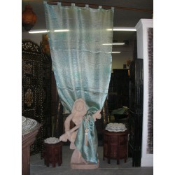 Blue organza curtains clear