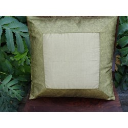 cushion cover 40x40 Golden border brocade