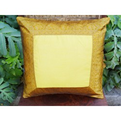 cushion cover 40x40 Yellow border brocade