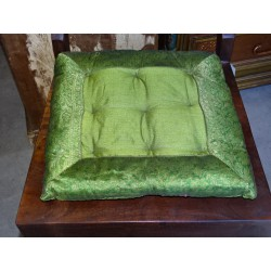 Chair cushions with edges brocade in green light