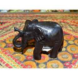 Incense Burner Resin black elephant