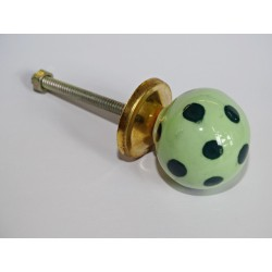 Light green ball button with dark green pitch