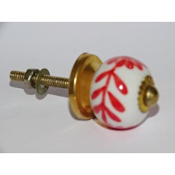 Furniture handle Red flowers