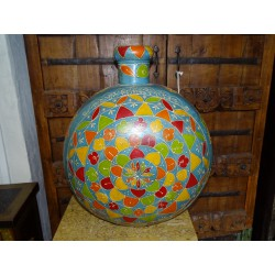 Hand Painted Gange Water Jar Blue XL