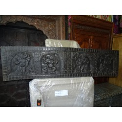Carved panel mango tree headboard with the effigy of GANESH