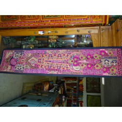 Headboard in old recycled fabrics - unique piece 37x150 cm - N ° 49