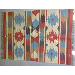 Hand-woven Dhurrie rug  120 x 200 cm - 8