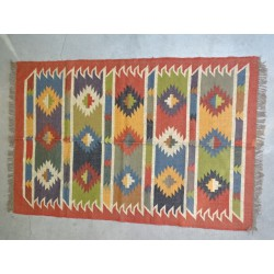 Hand-woven Dhurrie rug  120 x 200 cm - 2