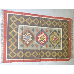 Hand-woven Dhurrie rug  120 x 200 cm - 6