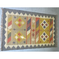 Hand-woven Dhurrie rug  120 x 200 cm - 7