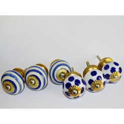 Lot de 6 boutons en porcelaine - Lot 6