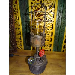 Old vintage railway worker's lamp