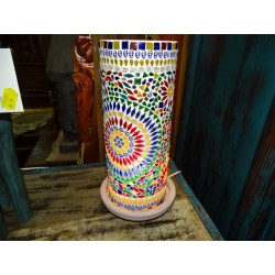 Multicolor design mosaic tube lamp 14 X 40 cm