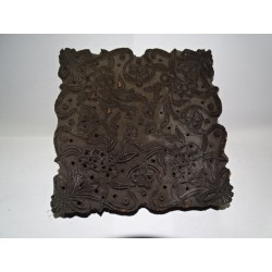 Large teak printing block for textiles - 12