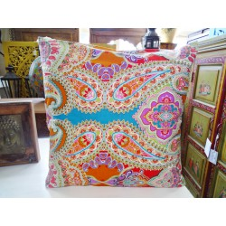 Pillow cover 60X60 cm printed with multicolored kashmeer
