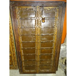 Small antique cupboard doors with metal - 1