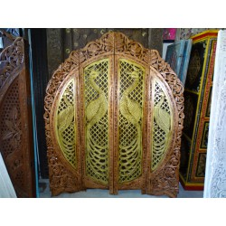 Screen Round Peacock copper and gold