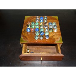 Solitaire games with glass beads 23 cm in diameter