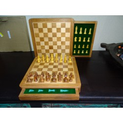 13 x 13 cm magnetic chess games with storage drawer