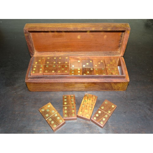 Dominos games in rosewood decorated with brass