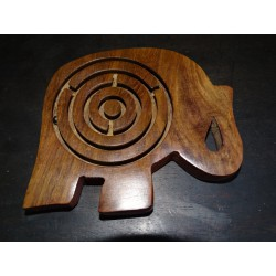 Elephant maze puzzle with 3 metal balls