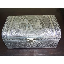 Large jewelry box with elephant and black velvet