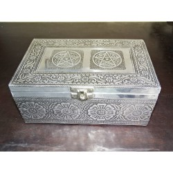 Large jewelry box with pentagon and purple velvet