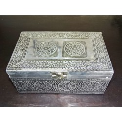 Large jewelry box with pentagon and black velvet