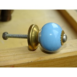 Small handles of sky blue color united